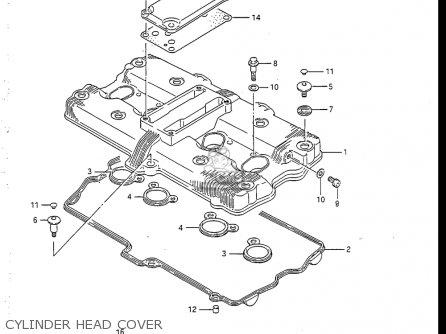 Suzuki Gsx-r750 R 1986 (usa) parts list partsmanual partsfiche