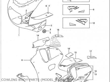 Suzuki Gsx-r750 W 1993-1995 (usa) parts list partsmanual