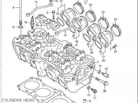Suzuki Gsx-r750 W 1993-1995 (usa) parts list partsmanual