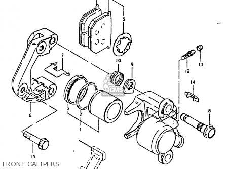 Suzuki Gsx1100 1980 (et) parts list partsmanual partsfiche