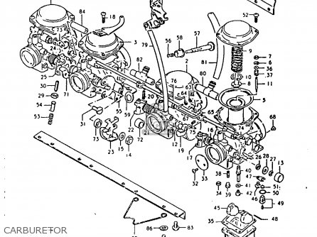 Suzuki Gsx1100 1981 (ex) parts list partsmanual partsfiche