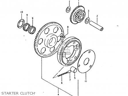 Suzuki Gsx1100 1981 (ex) parts list partsmanual partsfiche