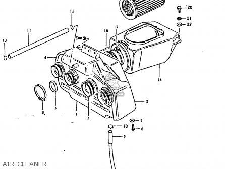 Suzuki Gsx1100 1981 (x) General Export (e01) parts list