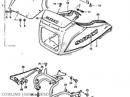 Suzuki Gsx1100 1982 (ez) parts list partsmanual partsfiche