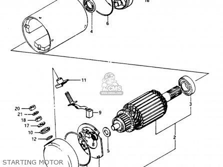 Suzuki Gsx1100 1984 (efe) parts list partsmanual partsfiche