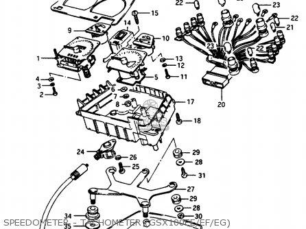 Suzuki Gsx1100 1985 (ef) parts list partsmanual partsfiche