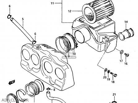 Suzuki Gsx1100 1986 (eg) parts list partsmanual partsfiche
