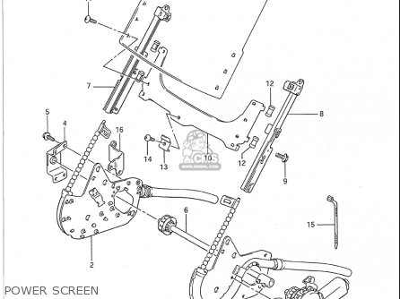 Suzuki Gsx1100 F 1988-1993 (usa) parts list partsmanual