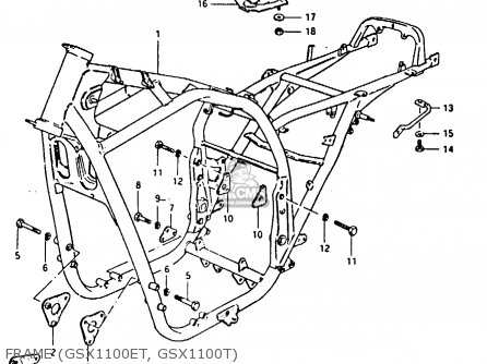 Suzuki GSX1100E 1980 (T) GENERAL EXPORT (E01) parts lists