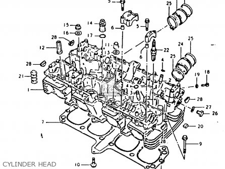 Suzuki Gsx1100e 1981 (x) General Export (e01) parts list