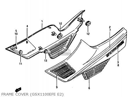 Suzuki GSX1100EF 1984 (E) (01 02 04 06 15 16 17 18 21 22