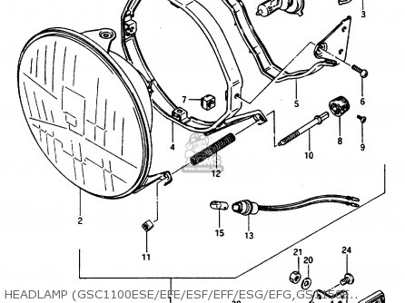 Suzuki Gsx1100ef 1984 (e) (01 02 04 06 15 16 17 18 21 22 24 25 26 34 39 parts list partsmanual