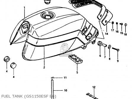 Suzuki GSX1100ES 1986 (G) (E01 E16 E17 E21 E22 E25 E34