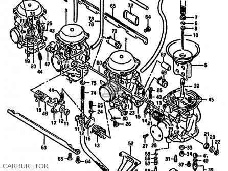 Suzuki GSX1100F 1988 (J) (E01 E18 E75 E76 E78) parts lists