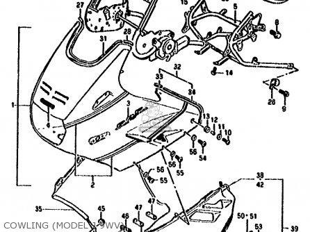 Suzuki Gsx1100f 1988 (j) (e01 E18 E75 E76 E78) parts list