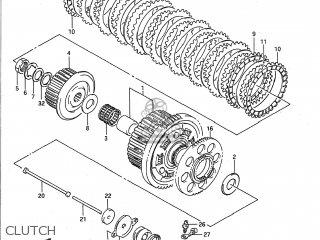Suzuki Gsx1100f 1988 (j) Usa (e03) parts list partsmanual
