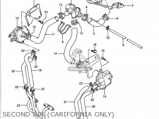 Suzuki Gsx1100g 1991 (m) Usa (e03) parts list partsmanual