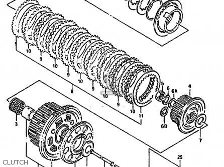 Suzuki Gsx1100g 1994 (r) (e02 E04 E18 E22 E24 E25) parts