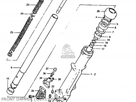 Suzuki GSX1100X 1983 (D) parts lists and schematics