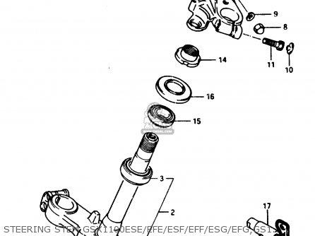 Suzuki Gsx1150 1985 (eff) parts list partsmanual partsfiche