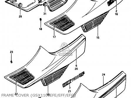 Suzuki Gsx1150ef 1986 (g) (e06) parts list partsmanual