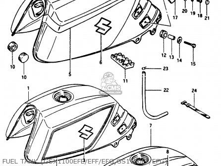 Suzuki GSX1150EF 1986 (G) (E06) parts lists and schematics