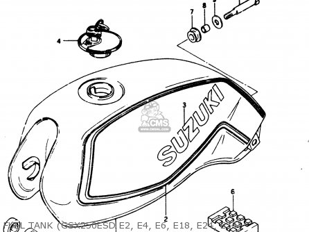Suzuki Gsx250 1982 (ez) parts list partsmanual partsfiche
