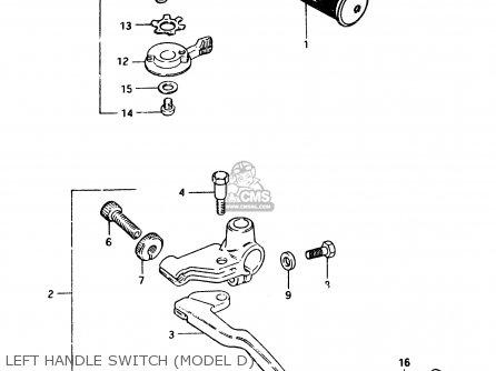 Suzuki Gsx250e 1983 (d) General Export (e01) parts list