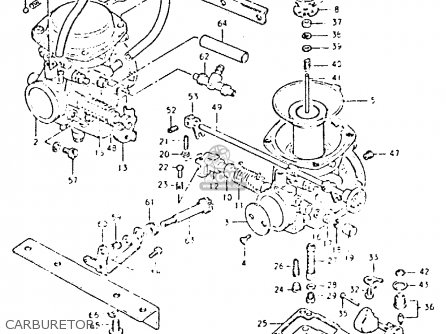 Suzuki Gsx400 1980 (lt) parts list partsmanual partsfiche