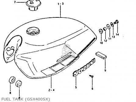 Suzuki Gsx400 1981 (ex) parts list partsmanual partsfiche
