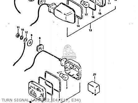 Suzuki Gsx400 1981 (fex) parts list partsmanual partsfiche