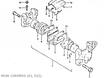 Suzuki Gsx400 1982 (fz) parts list partsmanual partsfiche