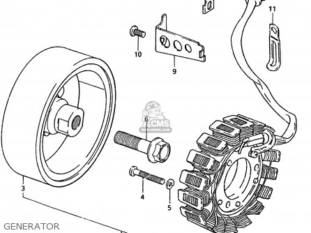 Suzuki Gsx400 1983 (td) parts list partsmanual partsfiche