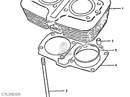 Suzuki GSX400E 1980 (T) (E02 E04 E22 E24) parts lists and