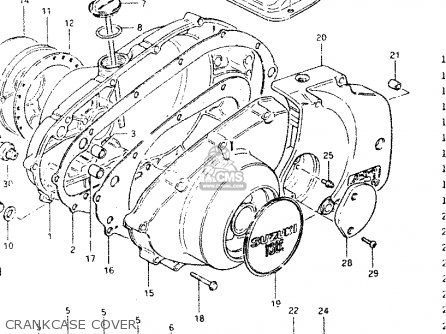 Suzuki Gsx400e 1985 (f) General Export (e01) parts list