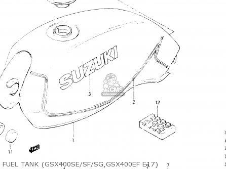 Suzuki Gsx400e 1986 (g) General Export (e01) parts list