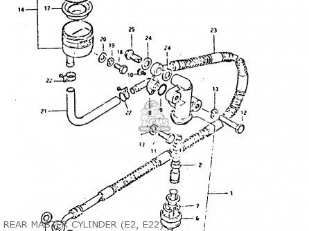 Suzuki GSX400F 1982 (Z) 01 02 04 06 15 16 17 18 21 22 24