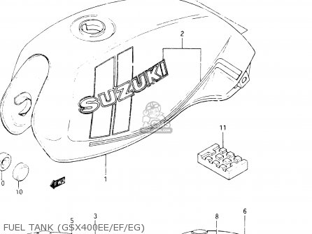 Suzuki GSX400S 1984 (E) GENERAL EXPORT (E01) parts lists