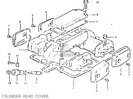 Suzuki Gsx400t 1981 (x) United Kingdom (e02) parts list