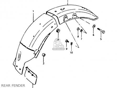 Suzuki Gsx450 1983 (ld) parts list partsmanual partsfiche