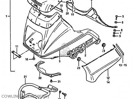 Suzuki Gsx550 1987 (eh) parts list partsmanual partsfiche