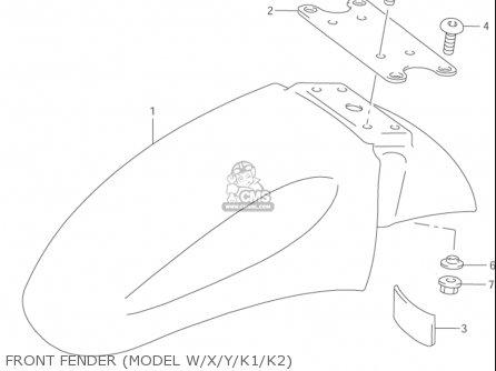 Suzuki Gsx600 F Katana 1998-2003 (usa) parts list