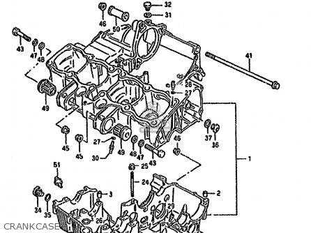 Suzuki GSX600F 1989 (K) (E01 E02 E04 E15 16 17 18 21 22 24
