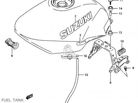 Suzuki GSX600F 1997 (V) (E02 E17 E22 E25 E34) parts lists