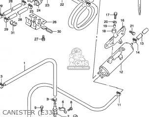 Suzuki Gsx600f Katana 1997 (v) Usa (e03) parts list