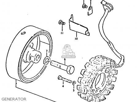 Suzuki Gsx750 1980 (et) parts list partsmanual partsfiche