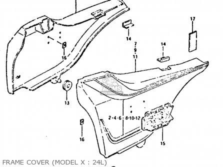 Suzuki Gsx750 1980 (t) (e01 E02 E06 E22 E24) parts list