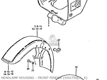 Suzuki GSX750 1980 (T) (E01 E02 E06 E22 E24) parts lists