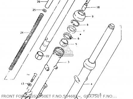 Suzuki Gsx750 1981 (ex) parts list partsmanual partsfiche