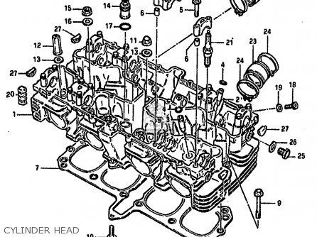 Suzuki Gsx750 1982 (sz) parts list partsmanual partsfiche